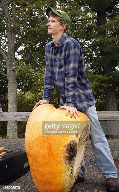 Lucas Dion of Waterboro waits to weigh his pumpkin at the Sanford Harvest Days Pumpkin Weigh Off in Sanford on Saturday September 22 2012 The pumpkin...