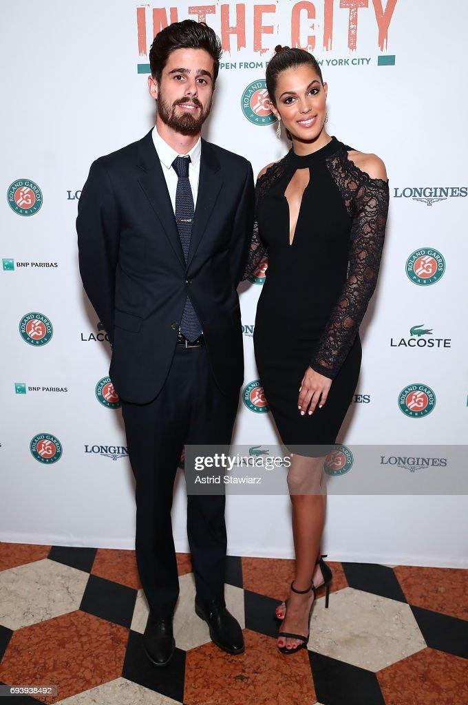 Lucas Dubourg and Miss Universe 2016, Iris Mittenaere attend the Roland-Garros reception at French Consulate on June 8, 2017 in New York City.