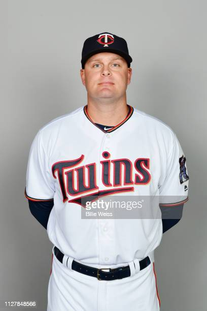 Lucas Duda of the Minnesota Twins poses during Photo Day on Friday, February 22, 2019 at CenturyLink Sports Complex in Fort Myers, Florida.