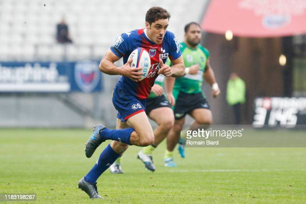 Lucas DUPONT of Grenoble during the Pro D2 match between FC Grenoble Rugby and US Montauban on November 17, 2019 in Grenoble, France.