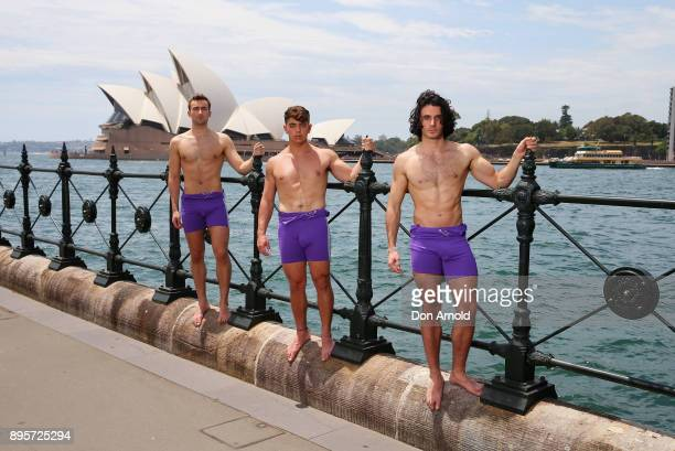 Lucas Etienne Amir Bouchard and Jorge Roig of the Warwick Rowers pose on December 20 2017 in Sydney Australia The Warwick Rowers are famous around...
