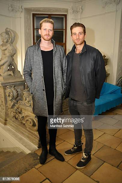 Lucas Fendrich and Florian Fendrich pose during the release of the record 'Schwarzoderweiss' at Gartenpalais Schoenborn on October 4 2016 in Vienna...