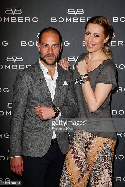 Lucas Feneberg and Verena Kerth attend the Bomberg Launch Event on April 16 2015 2015 in Munich Germany