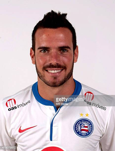 Lucas Fonseca of Esporte Clube Bahia poses during a portrait session August 14 2014 in SalvadorBrazil