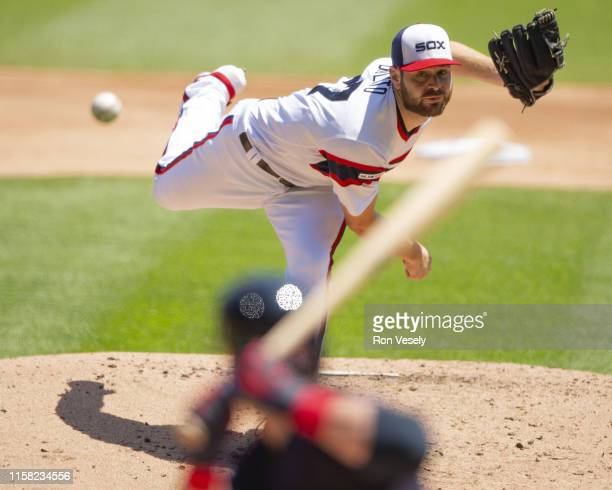 Lucas Giolito of the Chicago White Sox pitches against the Cleveland Indians on June 2 2019 at Guaranteed Rate Field in Chicago Illinois