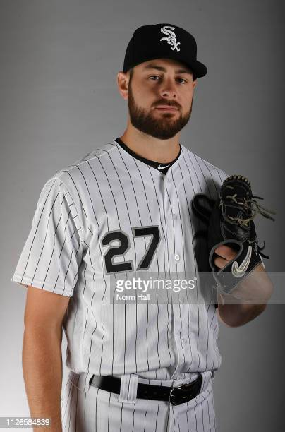 Lucas Giolito of the Chicago White Sox poses for a portrait on photo day at Camelback Ranch on February 21, 2019 in Glendale, Arizona.