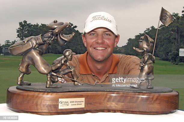 Lucas Glover poses with the trophy after the final round of the Funai Classic held on the Magnolia course at Walt Disney World Resort in Lake Buena...
