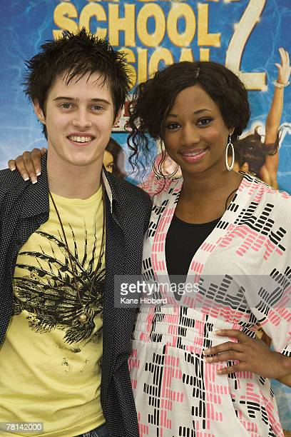 Lucas Grabeel and Monique Coleman attend a promotional tour for High School Musical at Chadstone Shopping Centre on November 29, 2007 in Melbourne,...