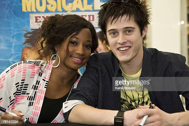 Lucas Grabeel and Monique Coleman attend a promotional tour for High School Musical at Chadstone Shopping Centre on November 29 2007 in Melbourne...