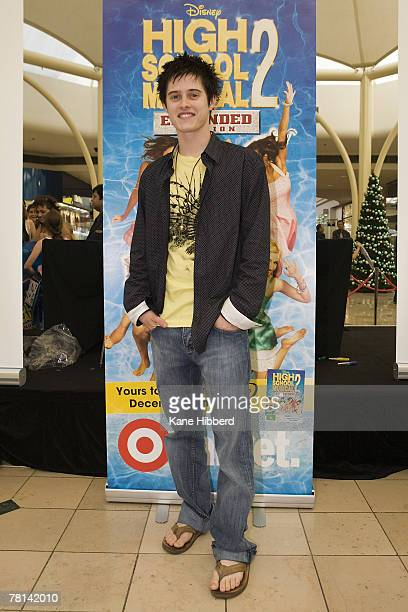 Lucas Grabeel attends a promotional tour for High School Musical at Chadstone Shopping Centre on November 29, 2007 in Melbourne, Australia.