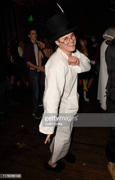 Lucas Grabeel attends Podwall Entertainment's 10th Annual Halloween Party presented by Maker's Mark on October 31 2019 in West Hollywood California