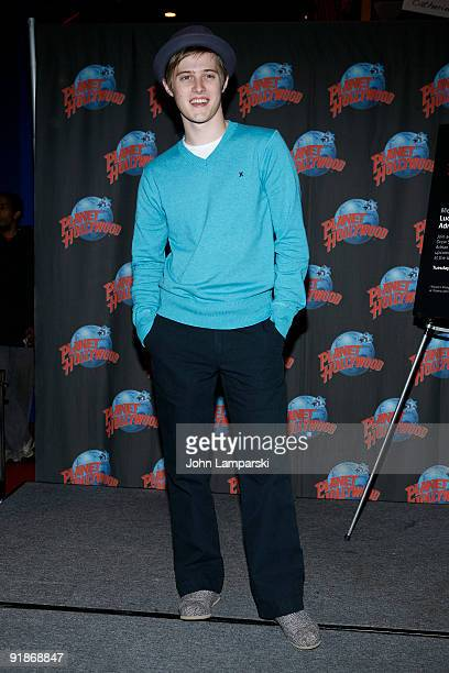 Lucas Grabeel visits Planet Hollywood on October 13 2009 in New York City