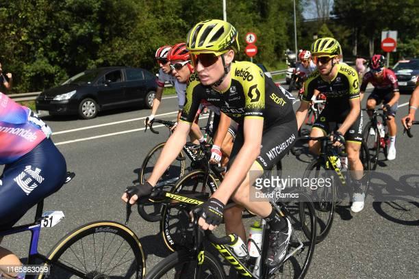 Lucas Hamilton of Australia and Team MitcheltonScott / Adam Yates of Great Britain and Team MitcheltonScott / Peloton / during the 39th Clásica...