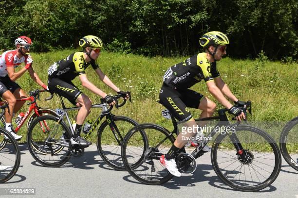Lucas Hamilton of Australia and Team MitcheltonScott / Adam Yates of Great Britain and Team MitcheltonScott / during the 39th Clásica Ciclista San...