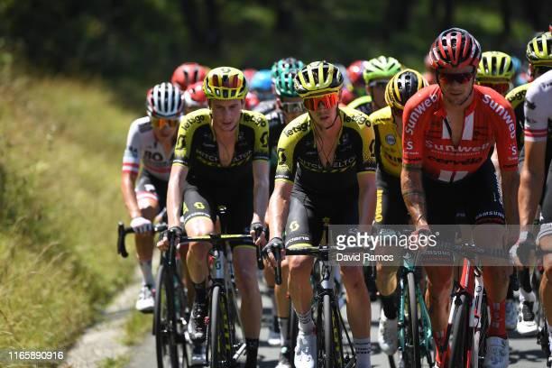 Lucas Hamilton of Australia and Team MitcheltonScott / Dion Smith of Australia and Team MitcheltonScott / Nicolas Roche of Ireland and Team Sunweb /...
