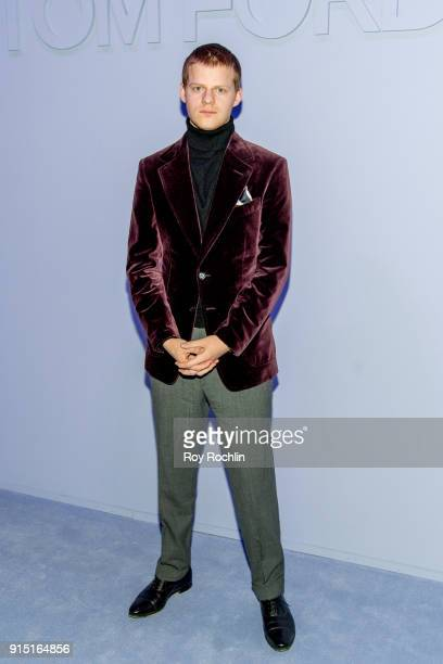 Lucas Hedges attends Men's Runway Show at Park Avenue Armory on February 6 2018 in New York City