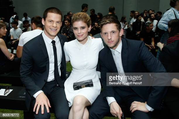 Lucas Hedges Kate Mara and Jamie Bell attend the Dior Homme Menswear Spring/Summer 2018 show as part of Paris Fashion Week on June 24 2017 in Paris...