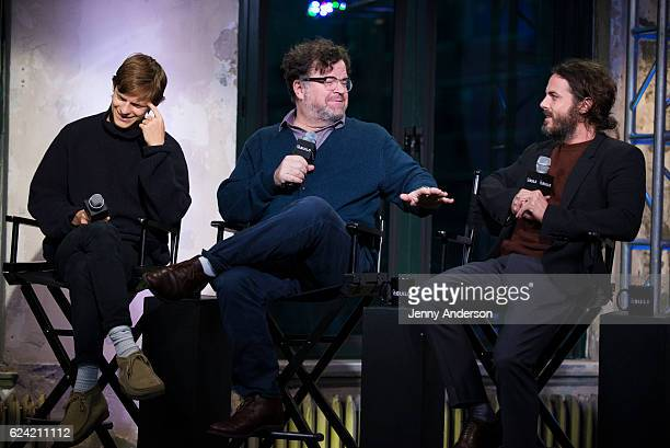 "Lucas Hedges, Kenneth Lonergan and Casey Affleck attend AOL Build Series to discuss their new film ""Manchester By The Sea"" at AOL HQ on November 18,..."