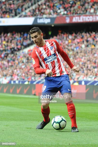 Lucas Hernandez #19 of Atletico de Madrid during the La Liga match between Club Atletico Madrid and Levante at Wanda Metropolitano on April 15 2018...