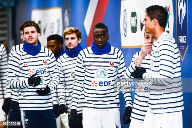 Lucas Hernandez Antoine Griezmann and Blaise Matuidi of France during the International friendly match between France and Colombia on March 23 2018...