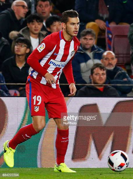 Lucas Hernandez during the 1/2 final King Cup match between FC Barcelona v Atletico de Madrid in Barcelona on February 07 2017 Photo Joan...