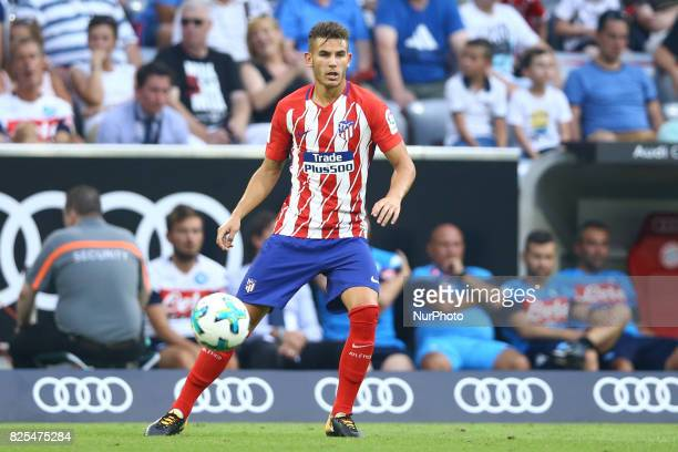 Lucas Hernandez of Atletico de Madrid during the first Audi Cup football match between Atletico Madrid and SSC Napoli in the stadium in Munich...