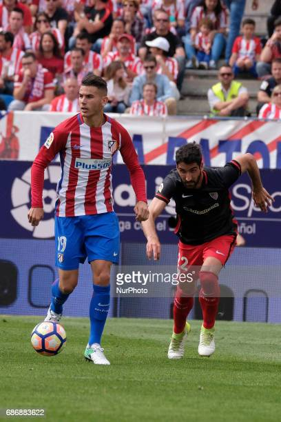 Lucas Hernandez of Atletico de Madrid during The La Liga match between Club Atletico de Madrid and Athletic Bilbao at Vicente Calderon on May 21 2017...