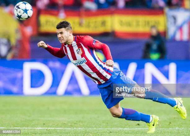Lucas Hernandez of Atletico de Madrid in action during their 201617 UEFA Champions League Round of 16 second leg match between Atletico de Madrid and...