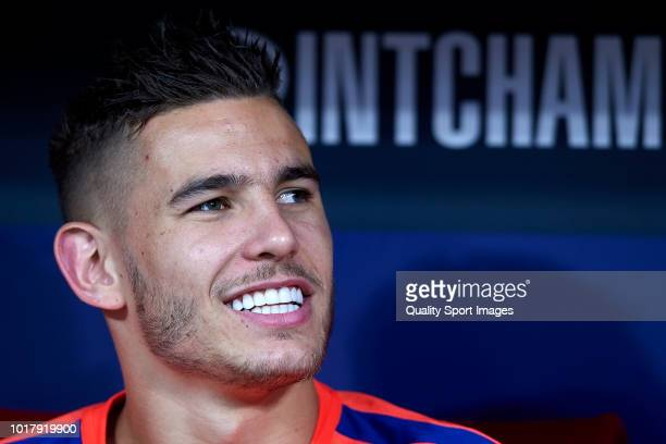 Lucas Hernandez of Atletico de Madrid looks on prior to the International Champions Cup match between Atletico de Madrid and FC Internazionale at...