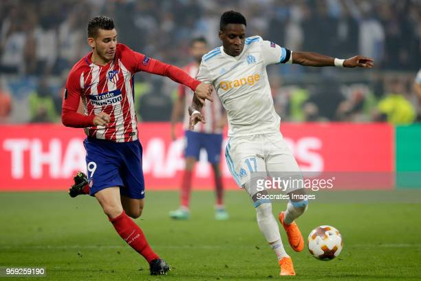 Lucas Hernandez of Atletico Madrid Bouna Sarr of Olympique Marseille during the UEFA Europa League match between Olympique Marseille v Atletico...