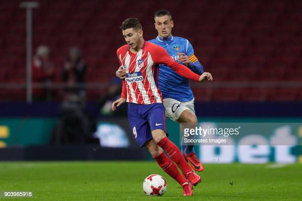 Lucas Hernandez of Atletico Madrid during the Spanish Copa del Rey match between Atletico Madrid v Lleida on January 9 2018