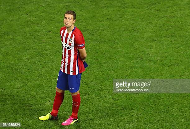 Lucas Hernandez of Atletico Madrid shows his dejection during the UEFA Champions League Final match between Real Madrid and Club Atletico de Madrid...