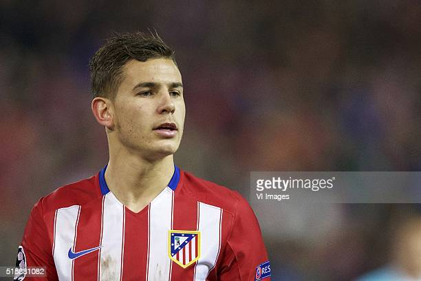 Lucas Hernandez of Club Atletico de Madrid during the UEFA Champions League Round of 16 Second leg match between Atletico madrid and PSV Eindhoven on...