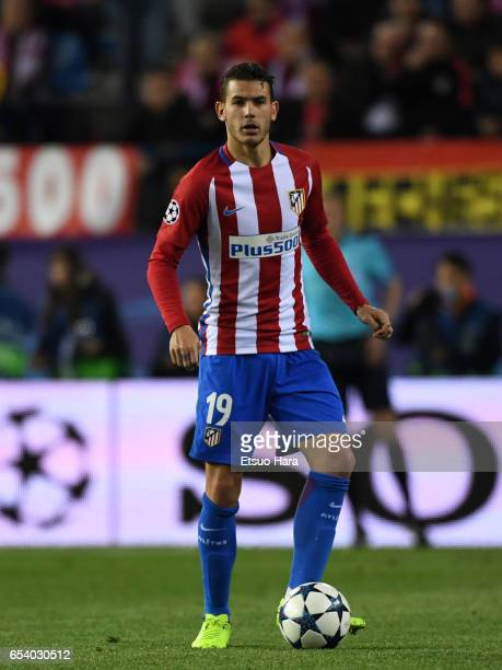Lucas Hernandez of Club Atletico de Madrid in action during the UEFA Champions League Round of 16 second leg match between Club Atletico de Madrid...