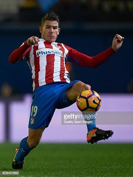 Lucas Hernandez Pi of Atletico de Madrid in action during the La Liga match between Villarreal CF and Atletico de Madrid at El Madrigal on December...