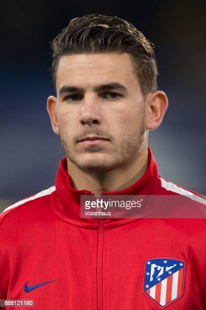 Lucas Hernández of Atletico Madrid before the UEFA Champions League group C match between Chelsea FC and Atletico Madrid at Stamford Bridge on...