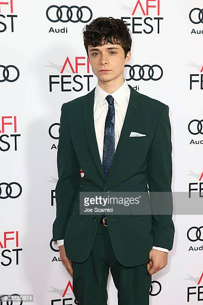 Lucas Jade Zumann arrives at a tribute to Annette Bening and gala screening of A24's 20th Century Women during AFI FEST 2016 presented by Audi at TCL...