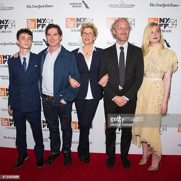 Lucas Jade Zumann Billy Crudup Annette Bening Mike Mills and Elle Fanning attend the 20th Century Women premiere during the 54th New York Film...