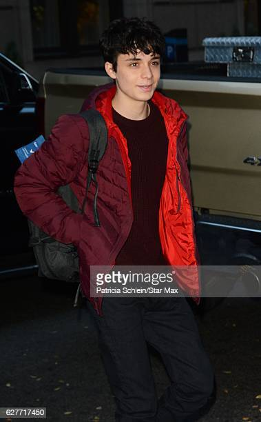 Lucas Jade Zumann is seen on December 4 2016 in New York City