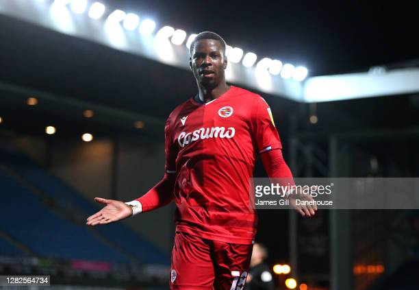 Lucas Joao of Reading celebrates after scoring their fourth goal during the Sky Bet Championship match between Blackburn Rovers and Reading at Ewood...