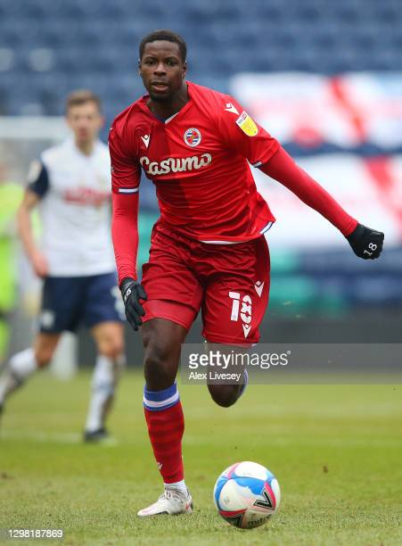 Lucas Joao of Reading during the Sky Bet Championship match between Preston North End and Reading at Deepdale on January 24, 2021 in Preston,...