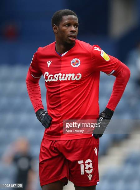 Lucas Joao of Reading looks on during the Sky Bet Championship match between Preston North End and Reading at Deepdale on January 24, 2021 in...