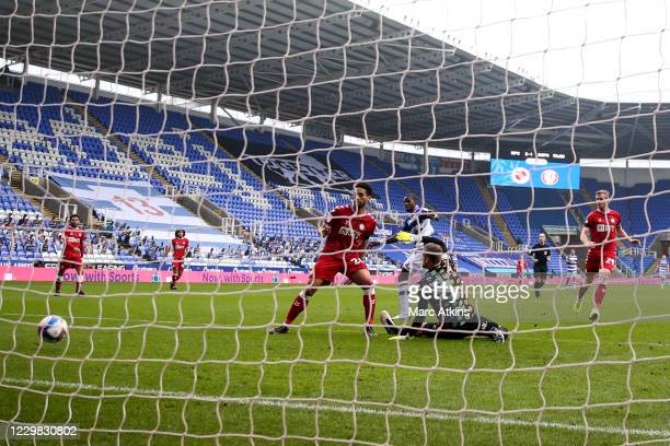 Lucas Joao of Reading scores their 3rd goal during the Sky Bet Championship match between Reading and Bristol City at Madejski Stadium on November...