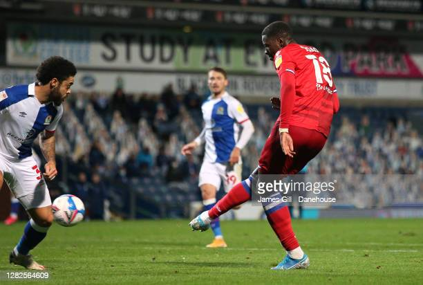 Lucas Joao of Reading scores their fourth goal during the Sky Bet Championship match between Blackburn Rovers and Reading at Ewood Park on October...