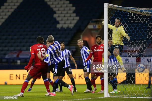 Lucas Joao of Reading scores their sides first goal during the Sky Bet Championship match between Sheffield Wednesday and Reading at Hillsborough...