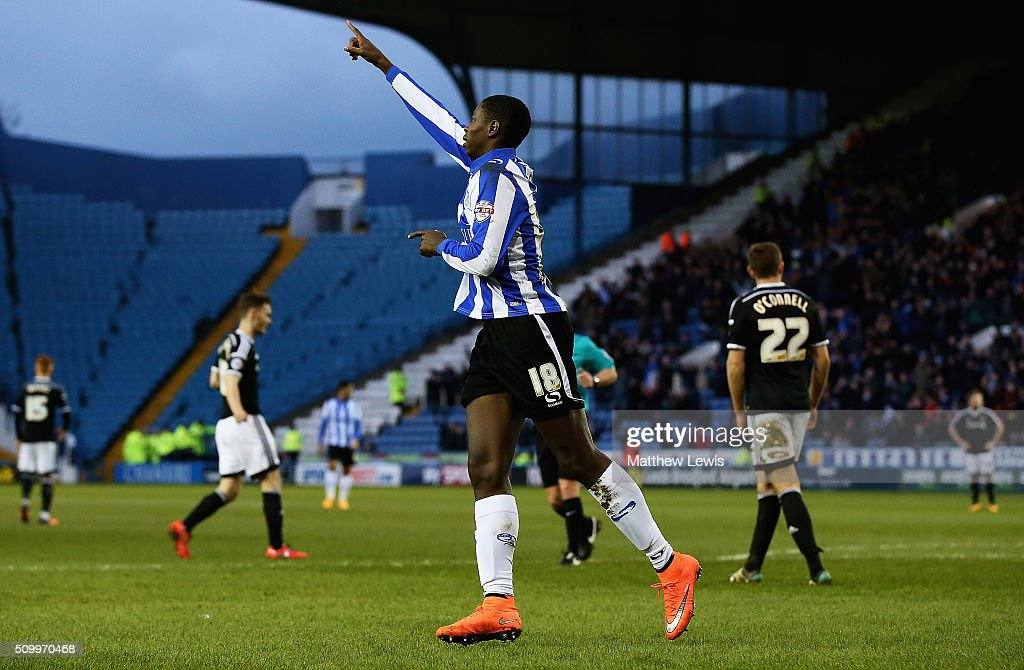 Lucas Joao of Sheffield Wednesday celebrates his goal during the Sky Bet Championship match between Sheffield Wednesday and Brentford at Hillsborough Stadium on February 13, 2016 in Sheffield, United Kingdom.
