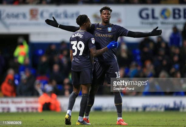 Lucas Joao of Sheffield Wednesday celebrates scoring during the Sky Bet Championship match between Ipswich Town and Sheffield Wednesday at Portman...