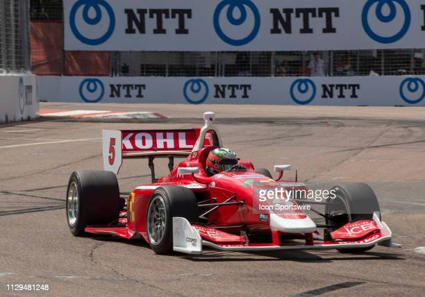 Lucas Kohl during the Indy Lights Race of St Petersburg on March 9 at the Streets of St Petersburg in St Petersburg FL
