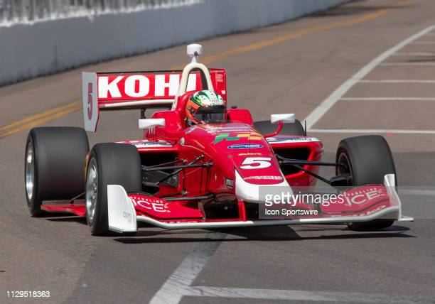 Lucas Kohl during the start of the Indy Lights Race of St Petersburg on March 9 in St Petersburg FL