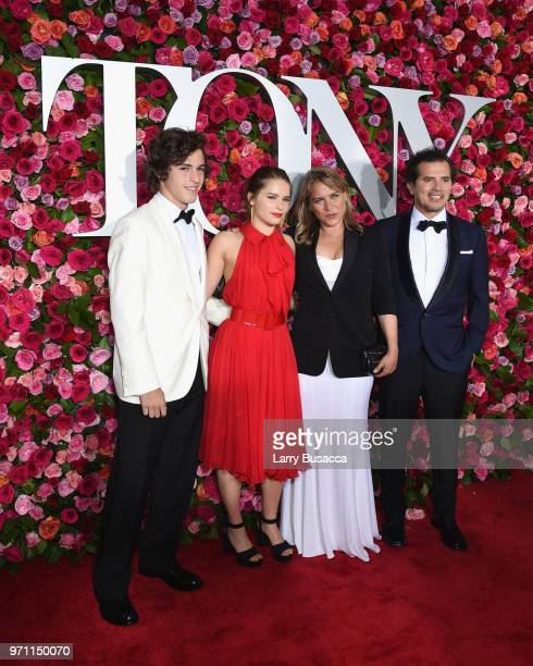 Lucas Leguizamo Allegra Leguizamo Justine Maurer and John Leguizamo attend the 72nd Annual Tony Awards at Radio City Music Hall on June 10 2018 in...